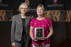 Pam Spahn with her award