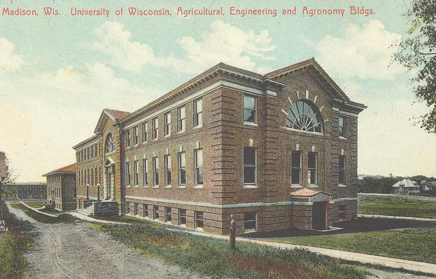 1914 Agricultural Engineering Building Postcard