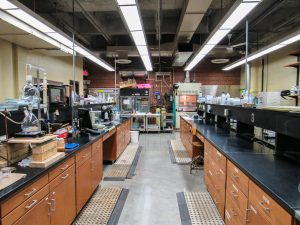 View down the center of the Environmental Quality Lab
