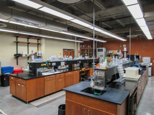 General view from the corner of the Environmental Quality Lab