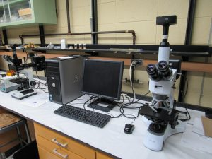 Photo of new microscopes