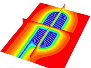 CFD image of a heat exchanger