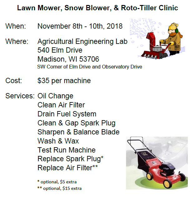 Info image for Lawnmower Clinic