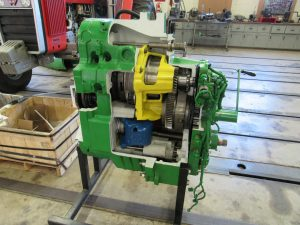 Photo of tractor engine cutout